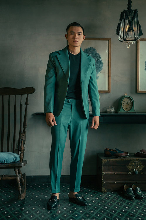 TAILORED LINEN PANTS WITH ROLLING UP DETAILS