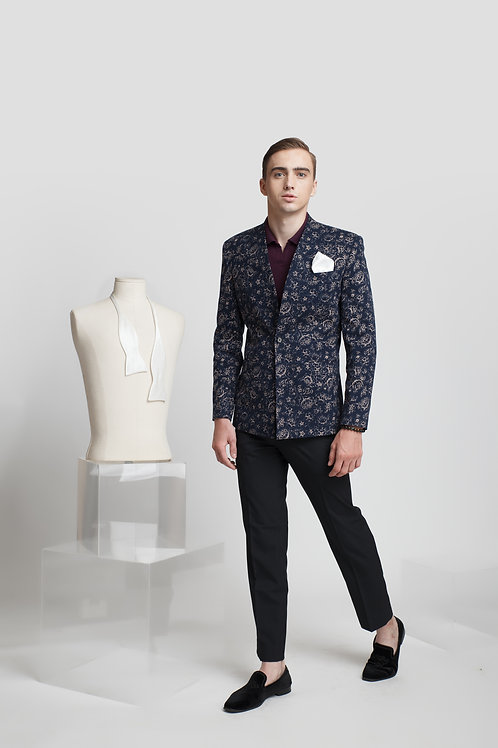 TAILORING BLAZER WITH FLORAL PATTERN