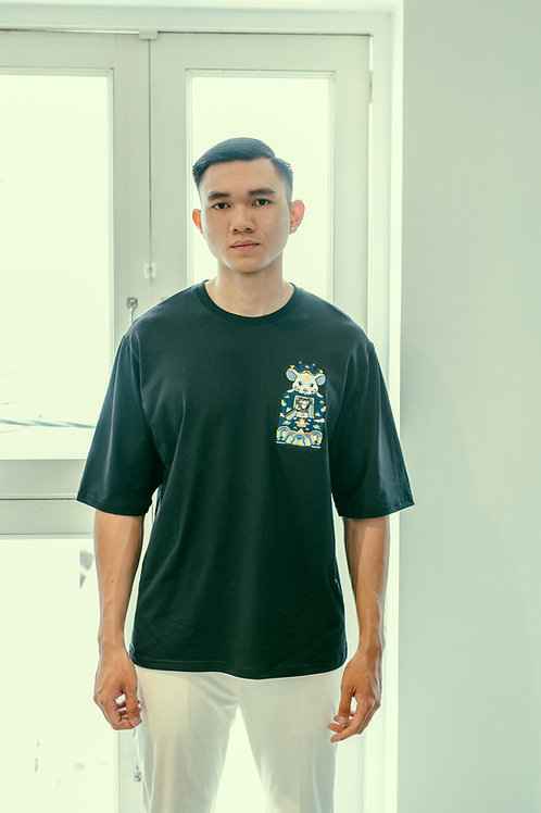 CANH TY OVERSIZED TEE WITH COLOR EMBROIDERY