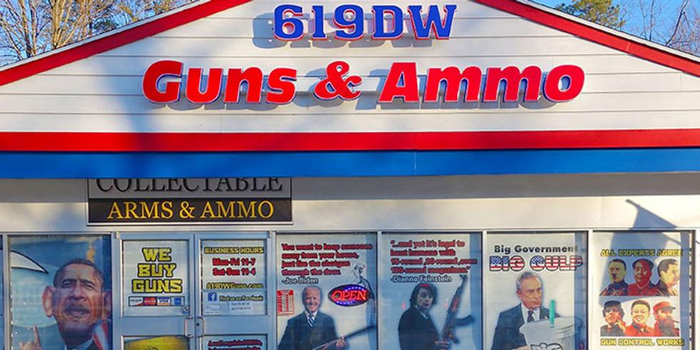 DW 619 Guns & Ammo Address - RSVP SUGGESTED