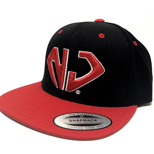 NJ Black Snapback Hat