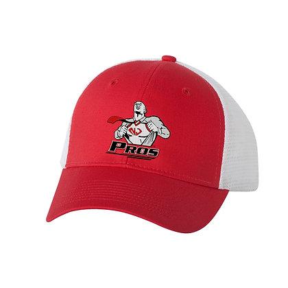 White/Red Trucker Hat (NJPros)