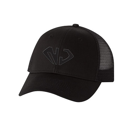 Black Trucker Hat (BLK NJ)