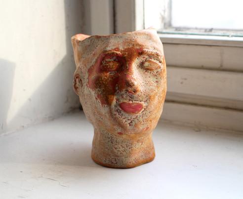 Mari-Ann  Ceramic pot    Clay, glazing, engobe 2019