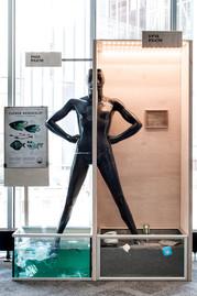 Exhibition production Exhibition design Furniture design   Client: Lounais-Suomen Jätehuolto  2019 Photo: Samu Franzen