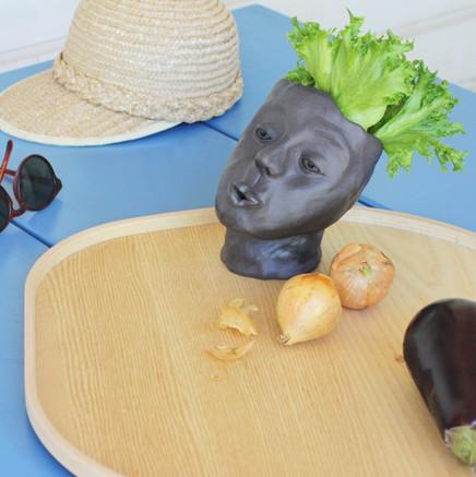 Philip 2020  Ceramic pot   Black clay, no glaze