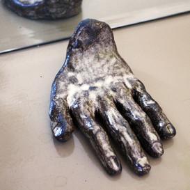 Grounding Experimental  Black clay, glazing 2019