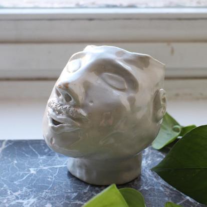 Jens  Ceramic pot    Clay, glazing  2019
