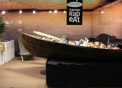 Exhibition stand furniture design and arrangement   Client: Rosten & 4D Exhibition: Fastfood, cafe & Ravintola 2019   2019