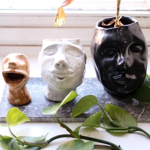 Hans, Jens & Edith  Ceramics Experimental   Clay, glazing 2018-