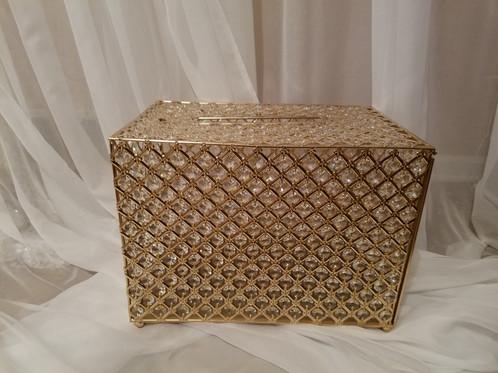 crystal card box gold