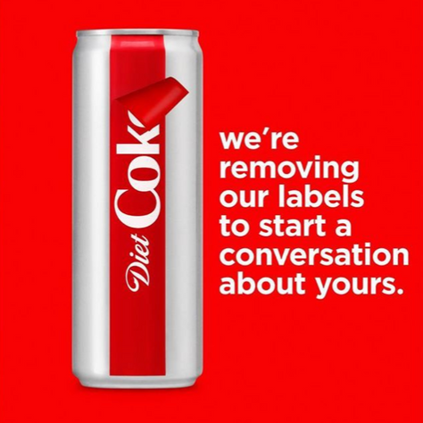 "Diet Coke's ""Unlabeled"""