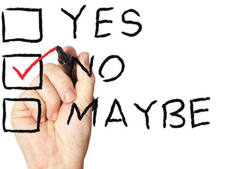 Saying NO...
