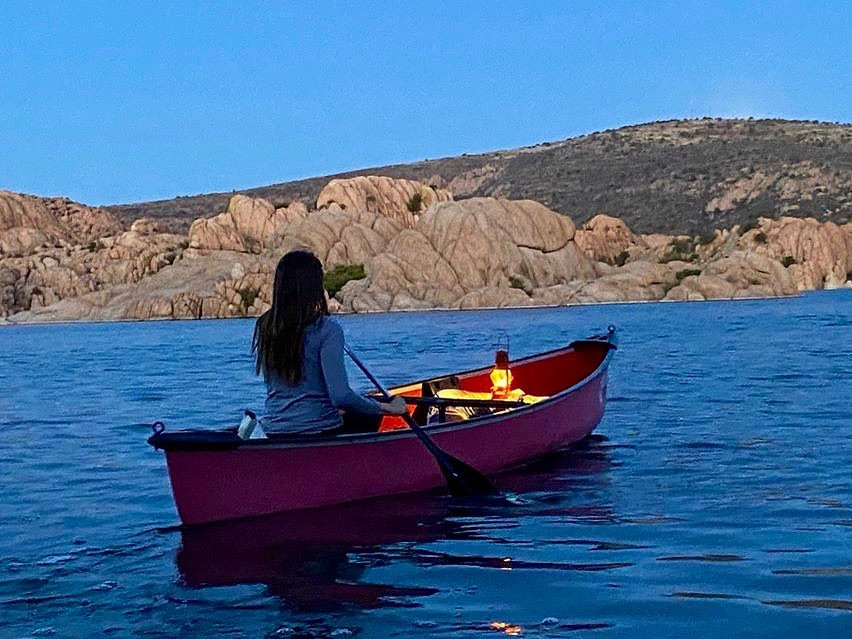 Canoe with lantern