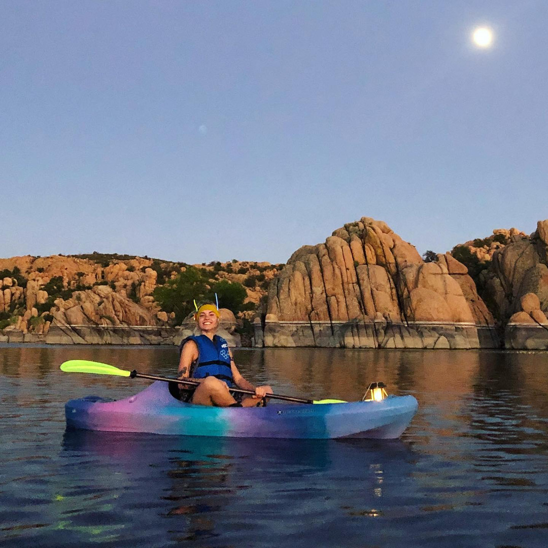 Moonlight kayaking