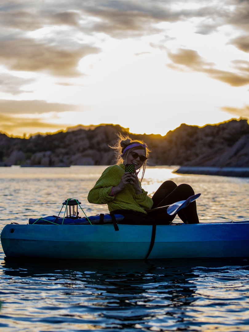 Moonlight Kayaking Watson Lake
