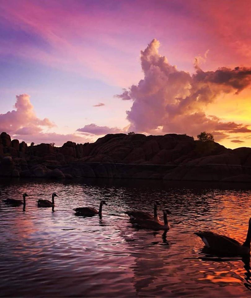 Watson Lake Sunset