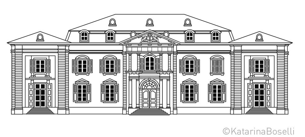 Château Voltaire - Dessin Illustrator