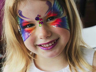 kids birthday party face painting