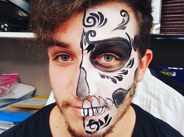 Halloween sydney face painter
