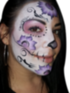 sugarskull purple facepainting