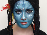 Specialised Makeup Character - Neytiri__A huge thanks (again) to my gorgeous and patient model Rhyah.jpg