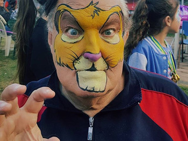 the lion king face painting