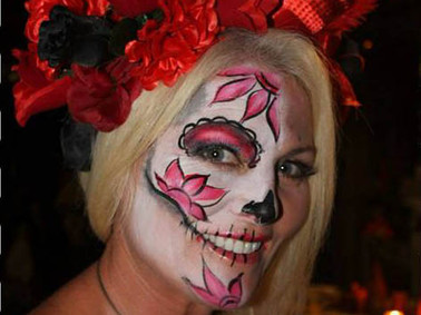 sweet sugar skull face painting