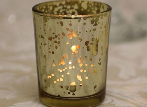 Champagne Speckled Tealight Holder