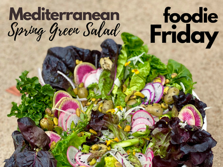 Mediterranean Spring Green Salad