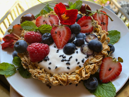 Lavender Granola Breakfast Tarts