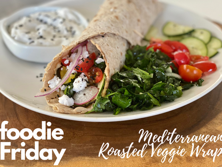 Mediterranean Roasted Veggie Wrap