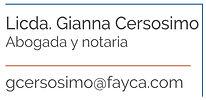 Licenciada Gianna Cersosimo, abogada y notaria