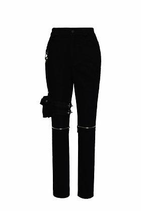PANTS WITH ZIPPER DETAILS