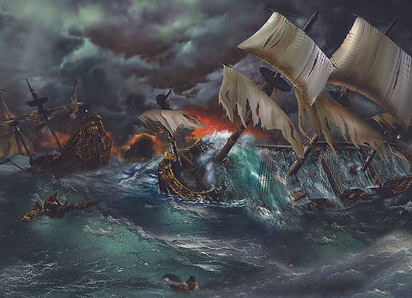 1715 Fleet in the Hurricane