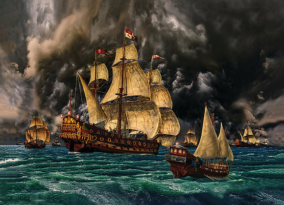 1715 Fleet Enters the Storm