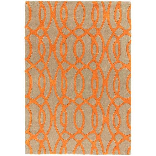 Vloerkleed oranje beige
