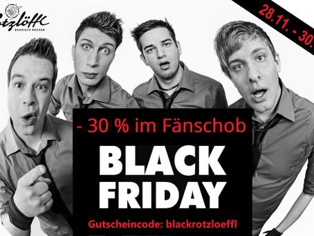 Black Friday: 30% Rabatt im Fänschob