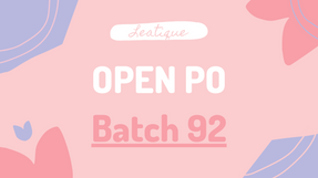 Leatique Open PO Import Batch 92