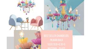 BEST SELLER! Candy Chanderlier Lamp Leatique
