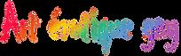 art érotique gay, texte couleurs rainbow flag
