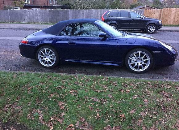 Porsche 911 convertible, Blue, Auto, 81500 miles