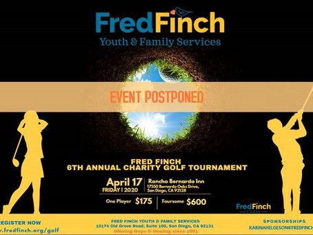 Fred Finch Annual Golf Tournament Postponed!