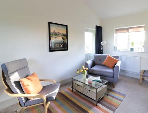 Living area inside Chestnut Cottage