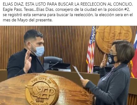 Elias Diaz buscara la reelección.