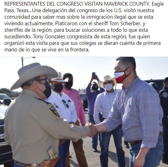 Representantes del congreso visitan Maverick County.