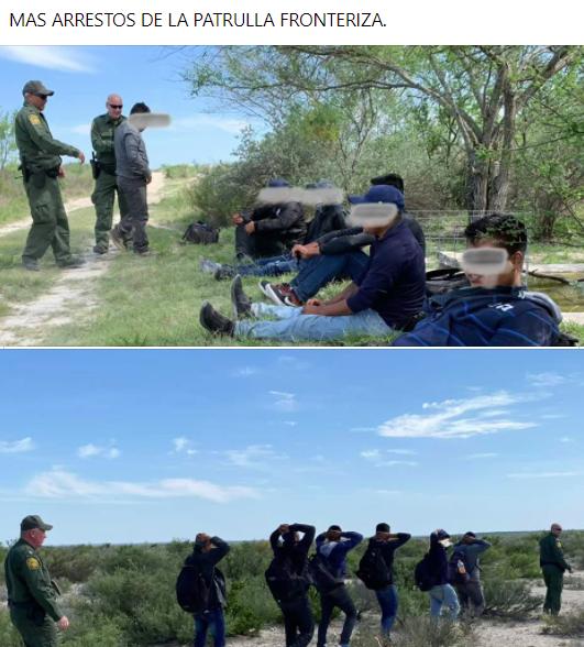 Mas arrestos del US Border Patrol.