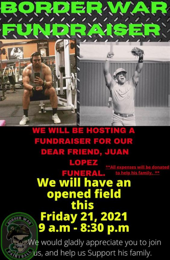 Hoy estaran recaudando fondos para la familia de Juan Lopez.