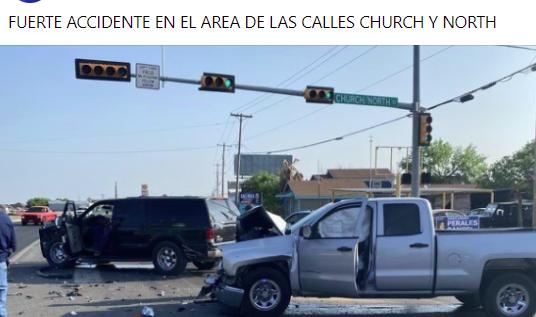 Fuerte accidente en Church y North.