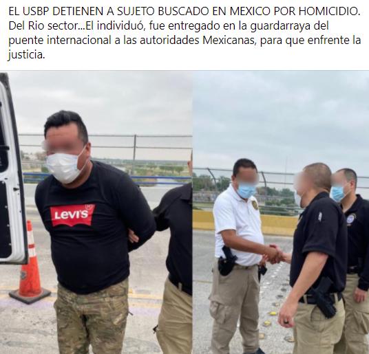 Lo buscaban en Mexico por homicidio.